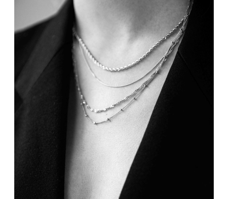 Essentials Silverplated Necklace Twisted Big