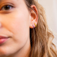Bloom Goldplated Earring Lime