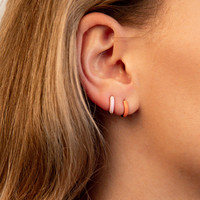Bloom Silverplated Earring Coral