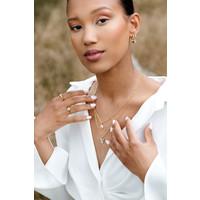 Vivid Goldplated Necklace Coin Ying Yang Lilac