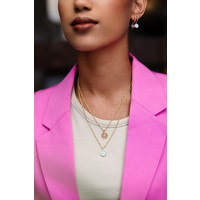 Vivid Silverplated Necklace Hexagon Star Lilac Pink