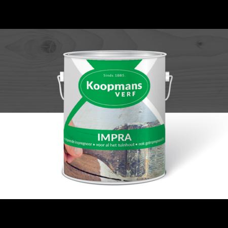 Koopmans Koopmans Impra Donkergrijs 2,5 Liter Semi-transparante tuinbeits