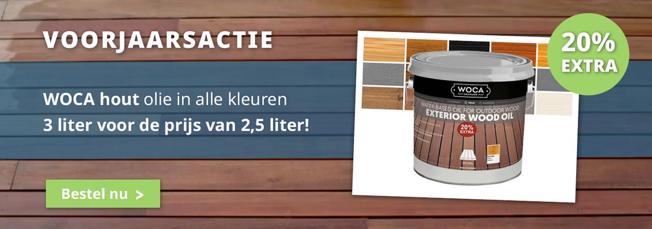 Woca Aanbieding olie gratis korting extra 3 liter!