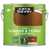 CetaBever Vlonder- & terrasbeits anti-slip Teak 2,5 liter