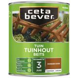 CetaBever Transparante tuinhout beits Donker Eiken Zijdeglans 0,75 Liter