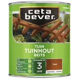 CetaBever Transparante tuinhout beits Teak Zijdeglans 0,75 Liter