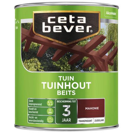 CetaBever Transparante tuinhout beits Mahonie Zijdeglans 0,75 Liter