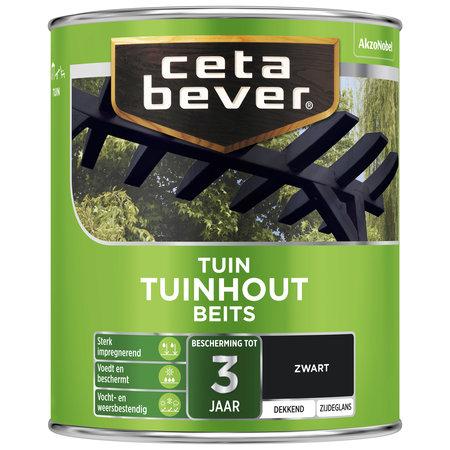 CetaBever Dekkende tuinhout beits Zwart 0,75 Liter