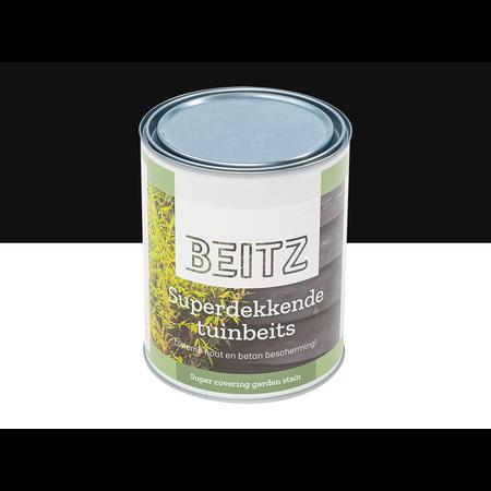 Beitz Tuinbeits Zwart 1 Liter Superdekkend Voor Hout en Beton - beitz