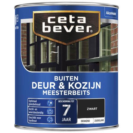 CetaBever Meesterbeits Deuren & Kozijnen Zwart 0,75L Zijdeglans