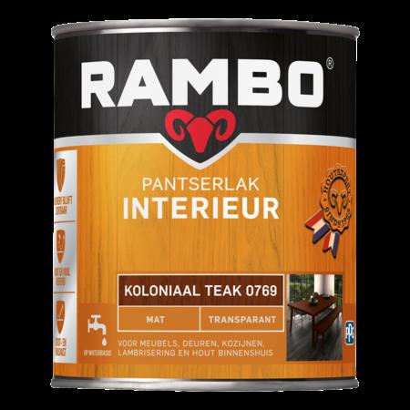 Rambo Pantser lak interieur mat transparant 0,75L - Alle Kleuren