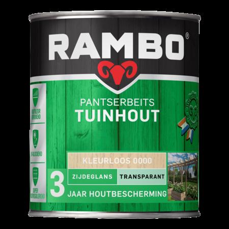 Rambo Rambo Pantserbeits Transparant 2,5L Alle kleuren Zijdeglans voor tuinhout