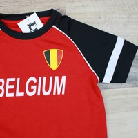 VOETBAL T-SHIRT BELGIUM | MAAT 110/116
