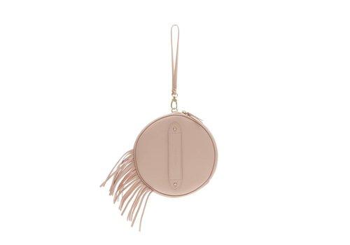 Marie Martens Marie Martens HAVANA Pink Nude Fringes disk bag