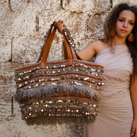 Hamimi Khenifra Overnight Bag  - Cognac & Henna