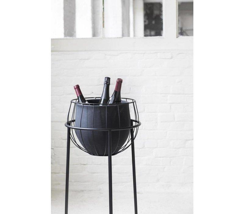 Serax plant stand cage zwart incl pot