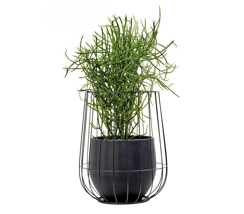 Serax pot in a cage zwart (incl pot)