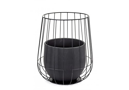 Serax Serax pot in a cage zwart (incl pot)