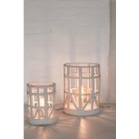 Marie Michielsen Standing lamp papier Mache beige S D23 H27