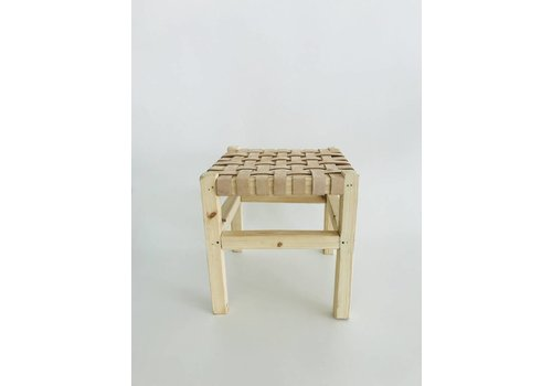 Maroc Handmade Single angular Stool natural leather
