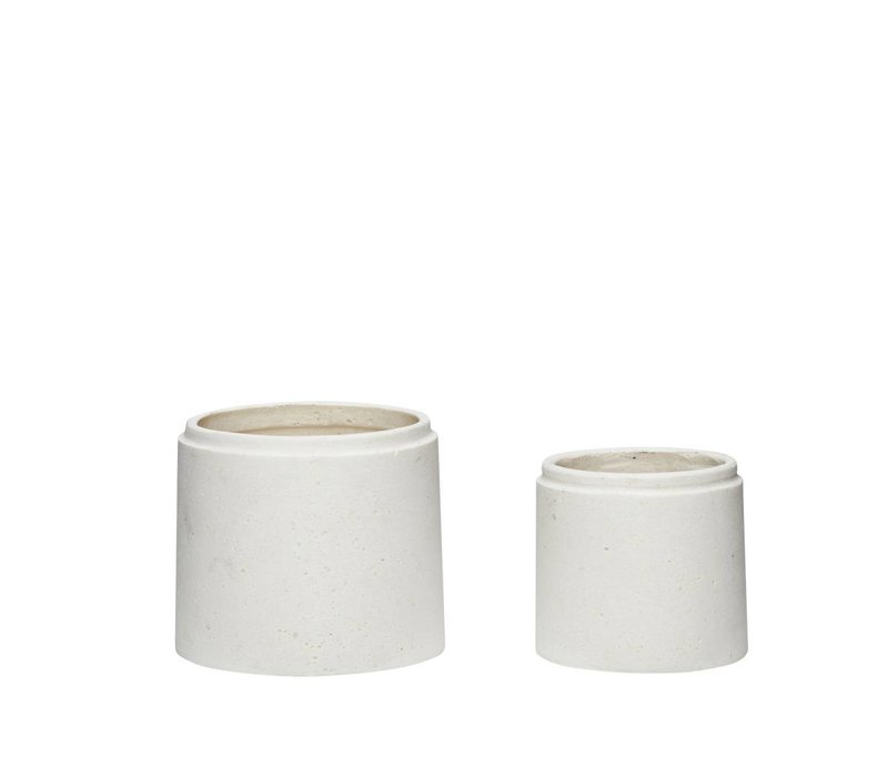Pot, ceramics, white, s/2