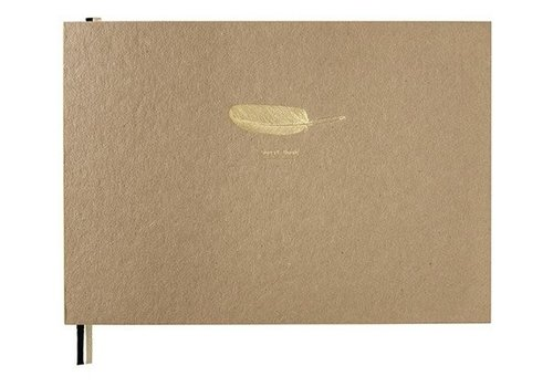 Papette BOOX | Large-pluim 'Gastenboek'-kraft