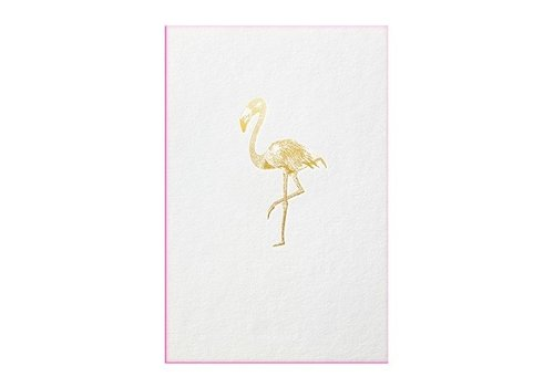 Papette FLAMINGO | Gold with flu pink edge