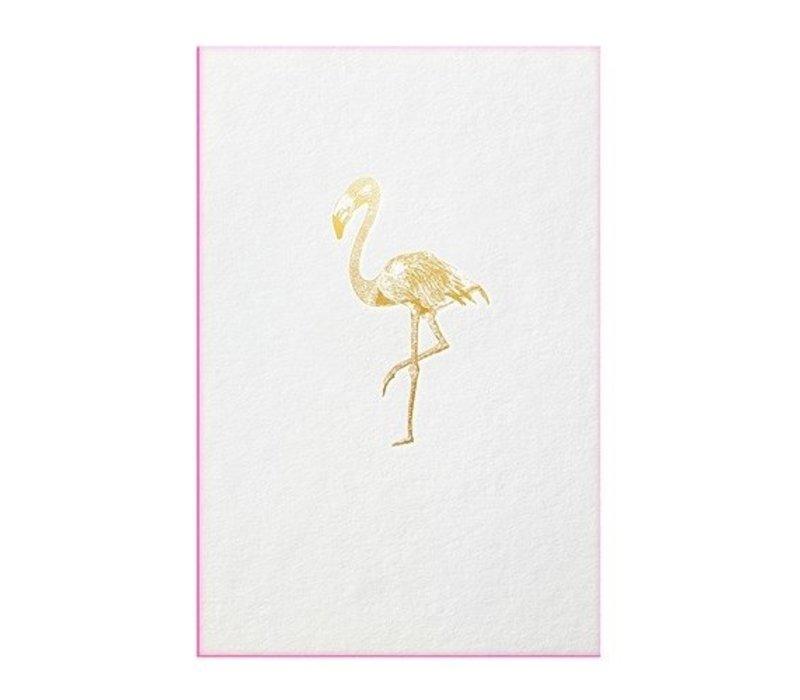 FLAMINGO | Gold with flu pink edge