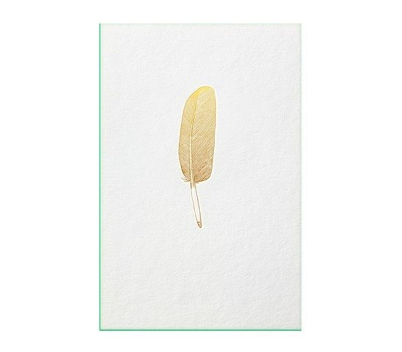 FEATHER | Gold with green edge