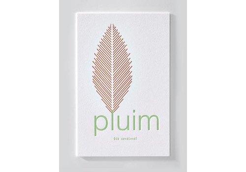 Papette ENNA | Postkaart met envelop | Pluim