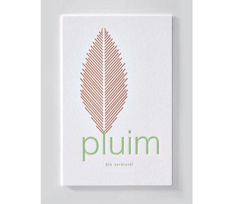 ENNA | Postkaart met envelop | Pluim