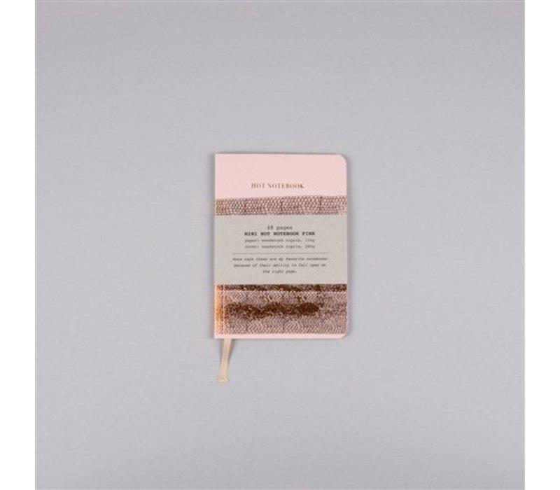 Hot Copper Mini notebook A6 pink
