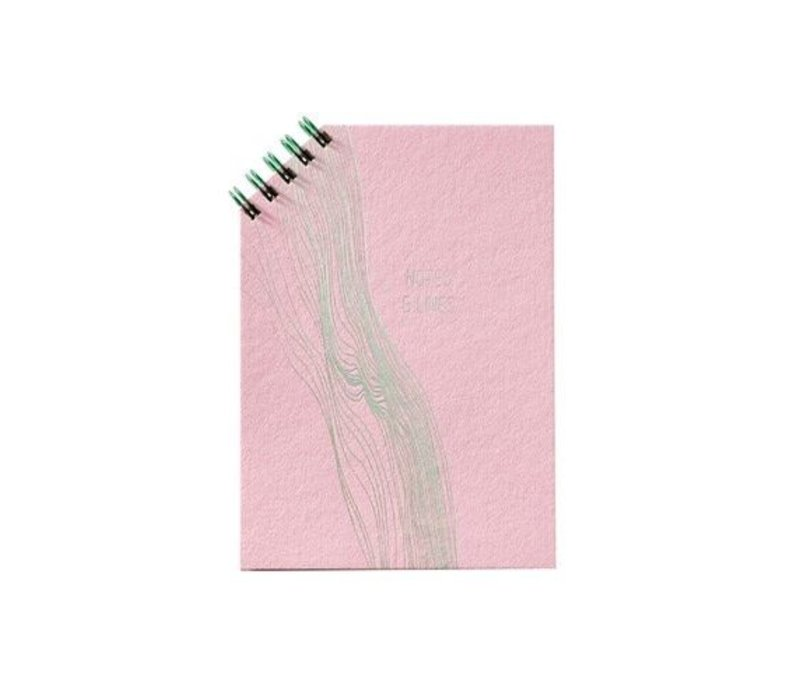 Notitieboekje Greensleeves wire-o 45° roze