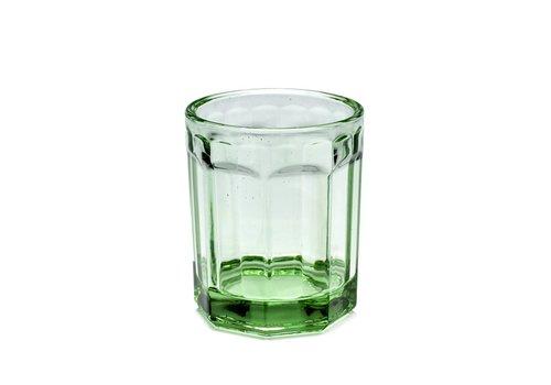 Serax Fish & fish glas Medium groen serax s/4