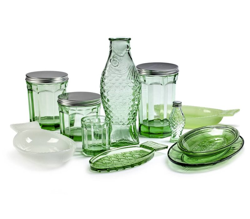 Fish & fish glas Medium groen serax s/4