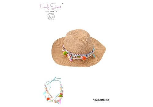 Necklace / Hat jewel Candy sweet Coral