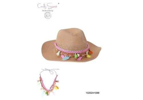 Necklace / Hat Jewel Fringes multicolour Candy Sweet