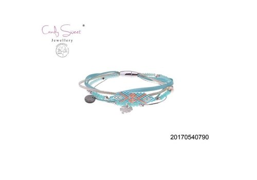 Jewelry Candy Sweet Elastic Multi-Bracelet Candy Sweet Blue