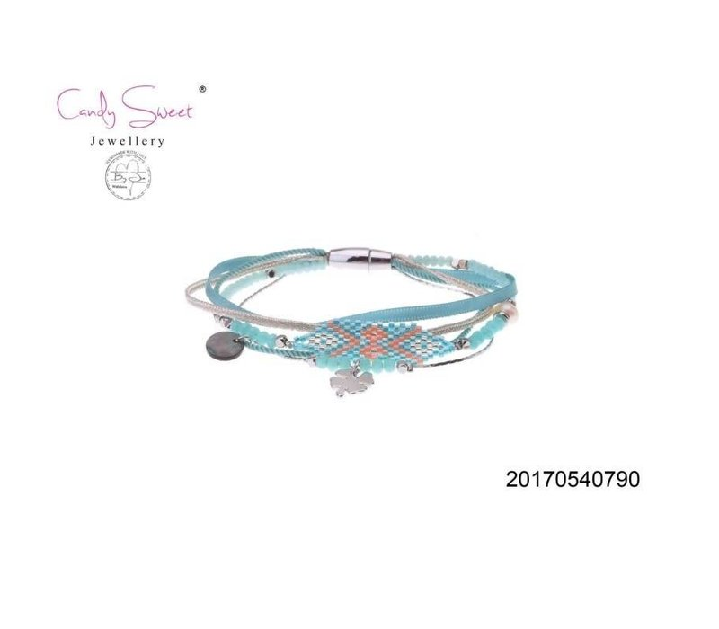 Elastic Multi-Bracelet Candy Sweet Blue