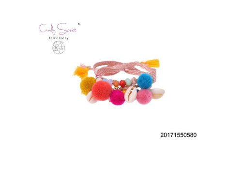 Jewelry Candy Sweet Bracelet Candy Sweet multicolour pompon