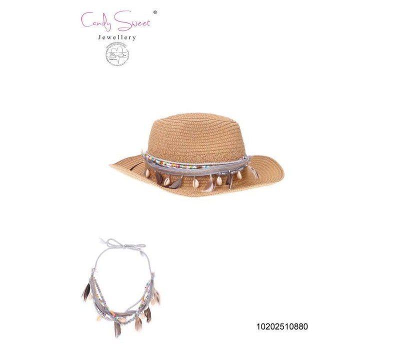 Necklace / Hat jewel Candy Sweet Silver