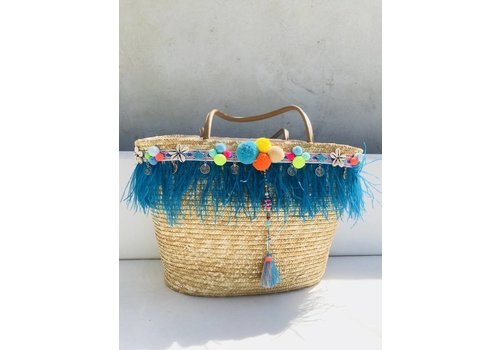 Strandtas Feather blue