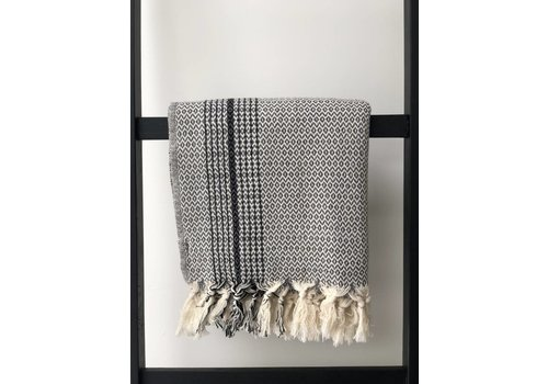 KnUS Beach & Bath towel grey / black stripe