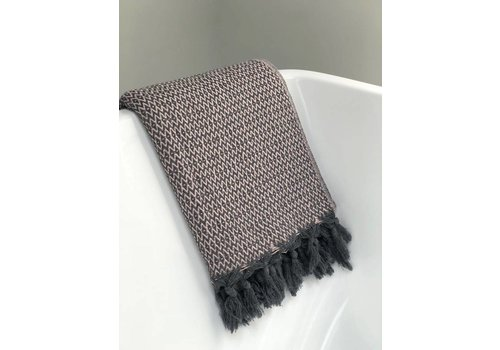 KnUS Beach & Bath towels zigzag dark grey / soft pink