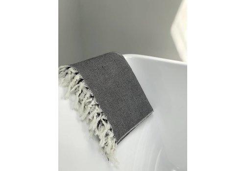 Beach & Bath towel black squared
