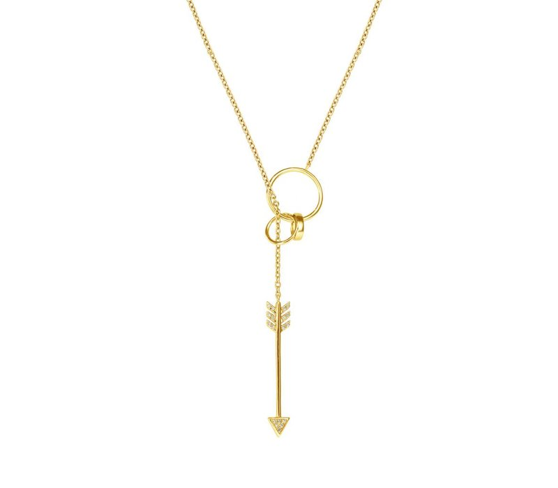 Diamanti Per Tutti Fly Necklace Yellow