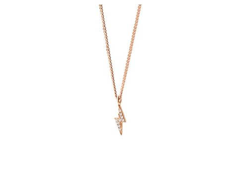 Diamanti per Tutti Thunder Diamonds Necklace -Pink-40cm