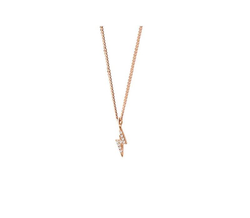 Diamanti Per Tutti Thunder Diamonds Halsketting  Pink