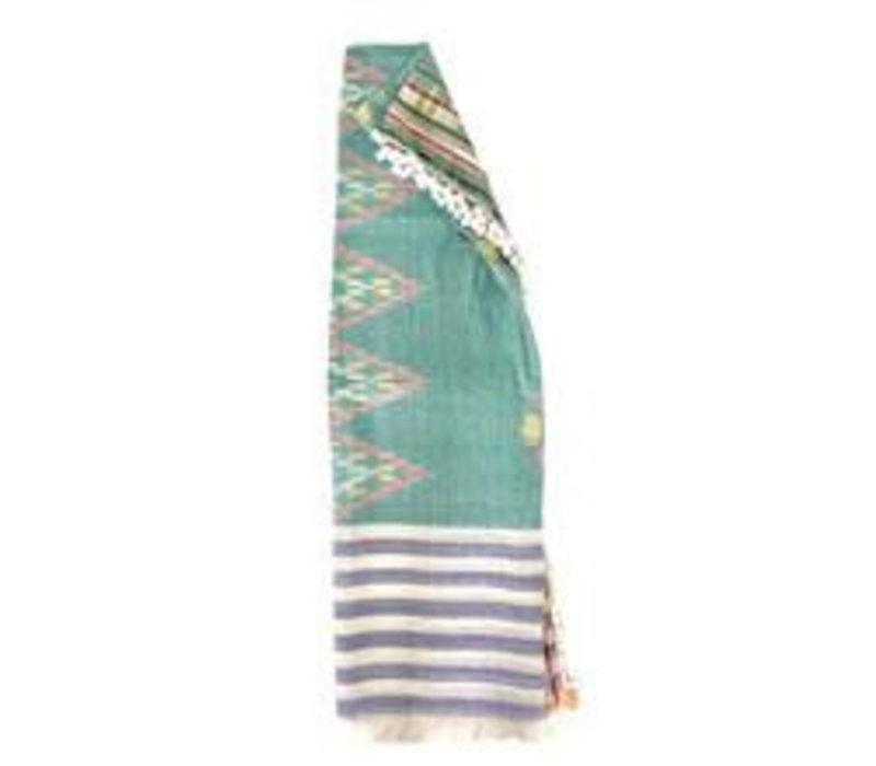 Pom Pom Beach Towel in Sea Green