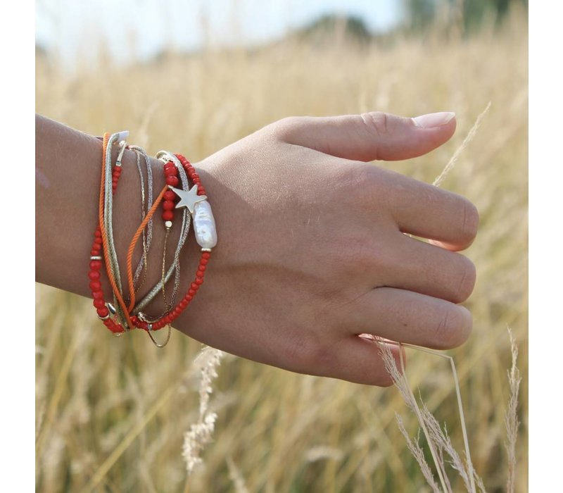 Double wrapped bracelet Candy Sweet Orange/Red